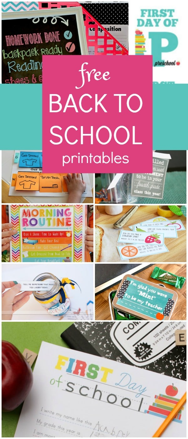 hight resolution of Free Back to School Printables - Fantastic Fun \u0026 Learning