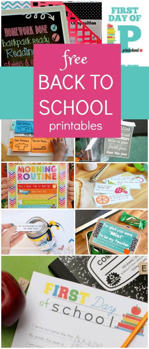 small resolution of Free Back to School Printables - Fantastic Fun \u0026 Learning