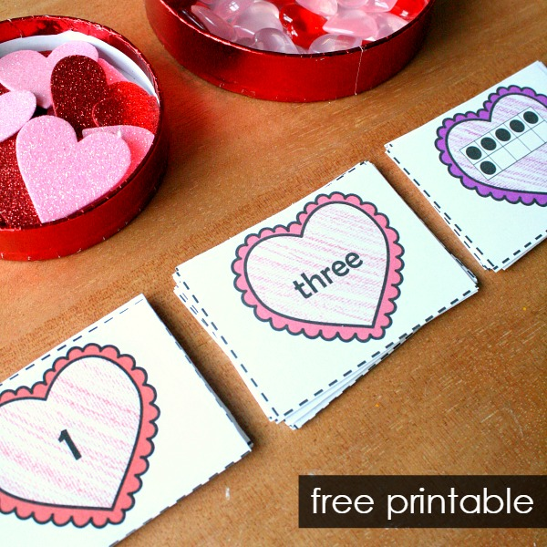 free printable heart number