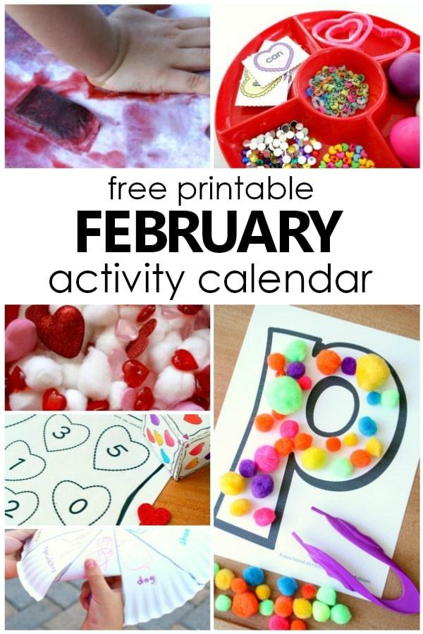 february preschool activities and