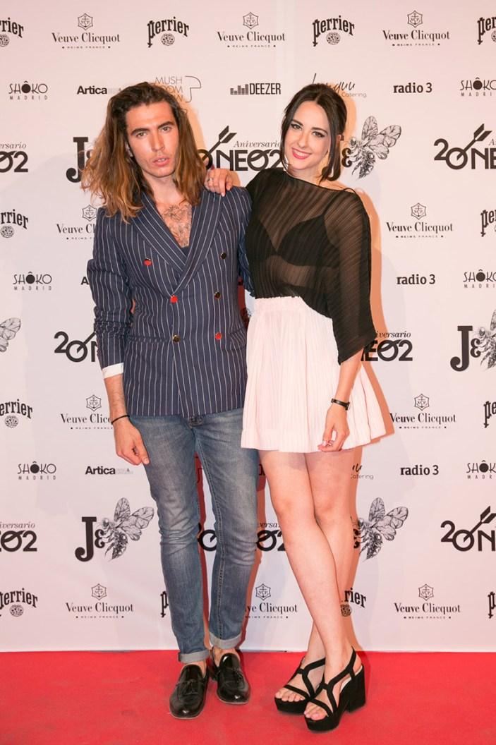 Jorge Parra (modelo) y Laura Put