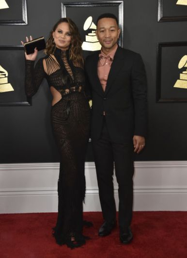 Chrissy Teigen y John Legend @ Grammy 2017