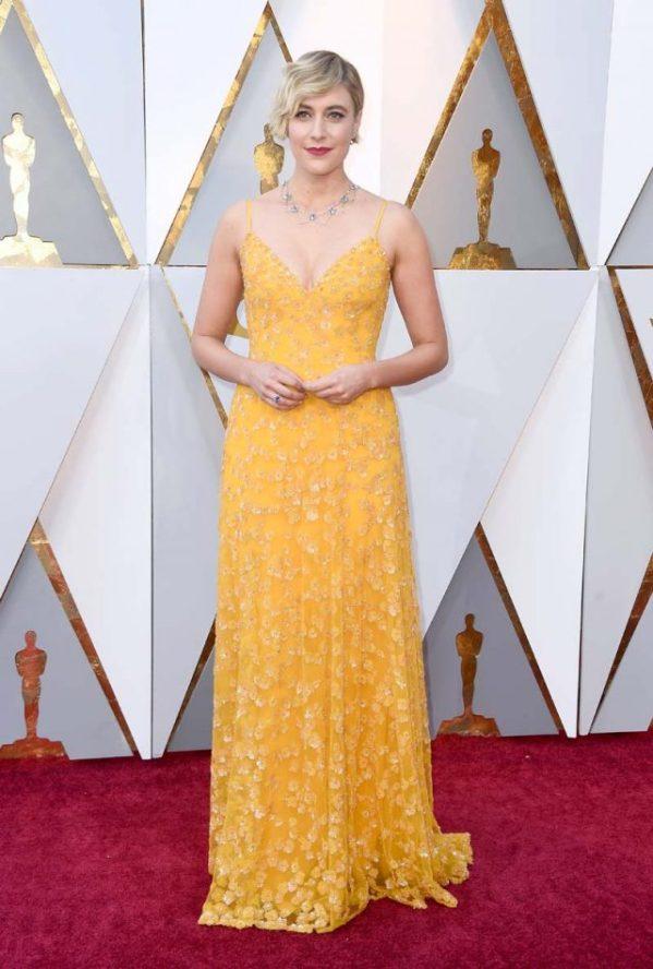 Greta Gerwig (Rodarte) @ Oscar 2018