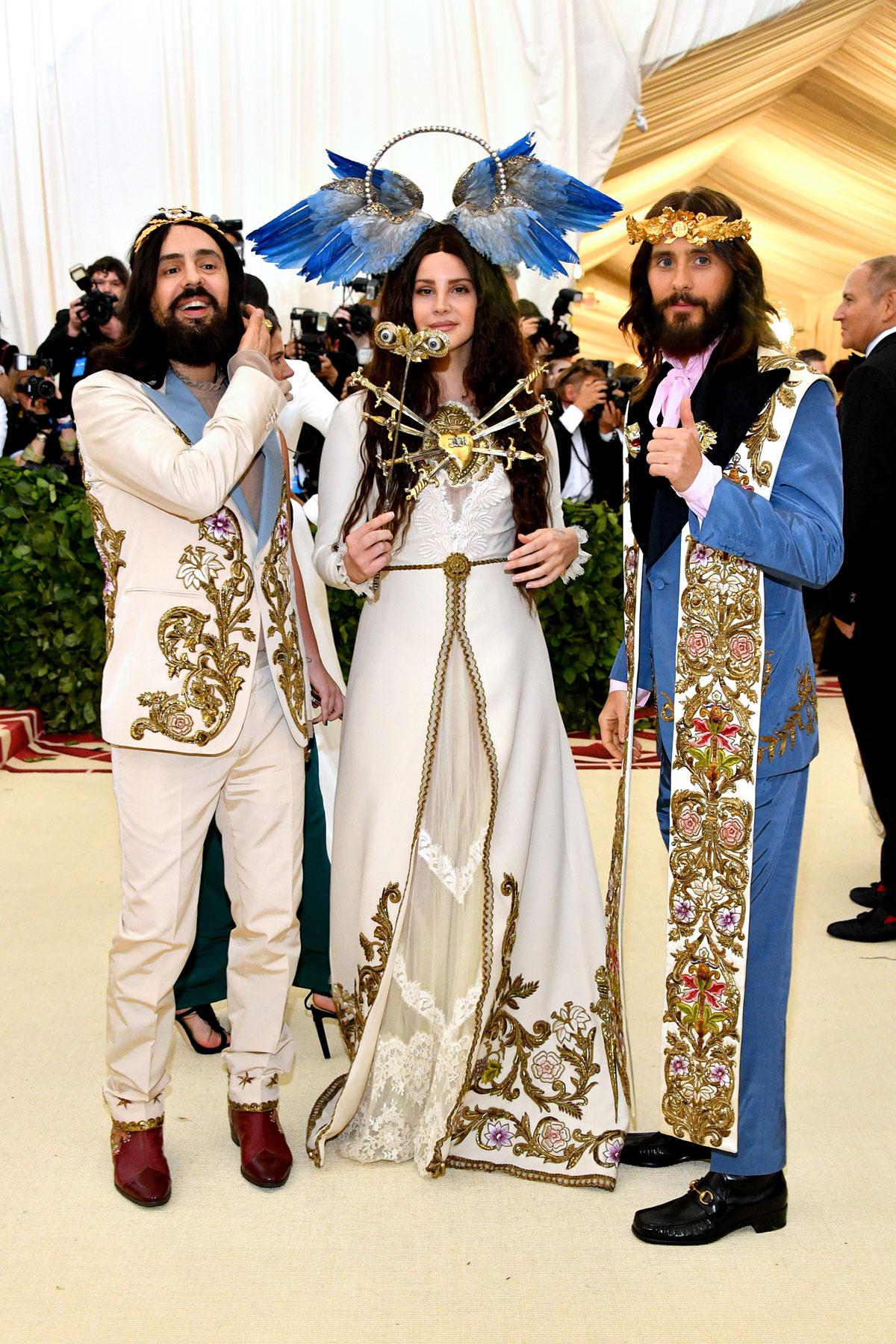 Alessandro Michele, Lana del Rey y Jared Leto (Gucci)