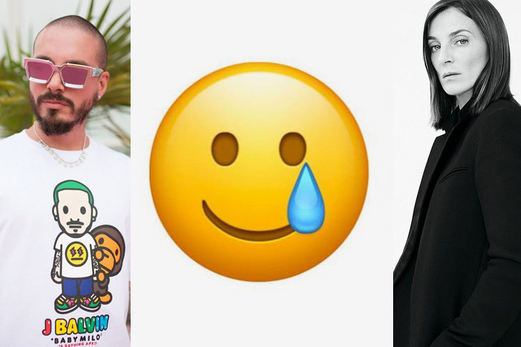 UP: J Balvin x BAPE, emojis, Phoebe Philo