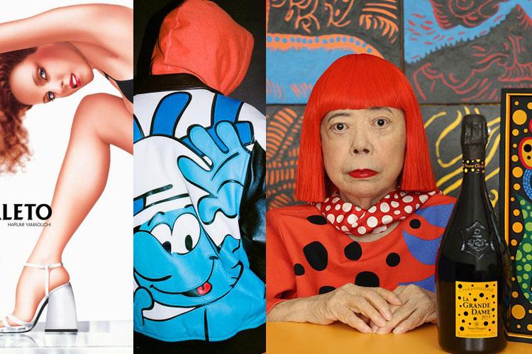 DOWN: Harumi Yamaguchi, Supreme x Los Pitufos, Yayoi Kusama x Veuve Clicquot...