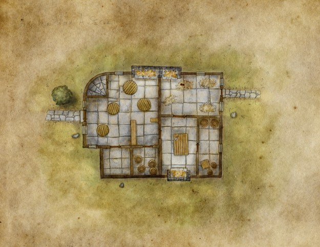High res unlabeled inn map, free for personal use