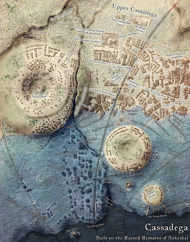 Map of Cassedega from Sunken Empires by Open Design