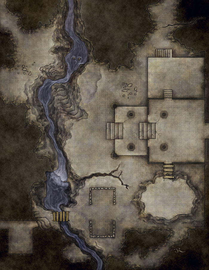 fantasy dungeon map