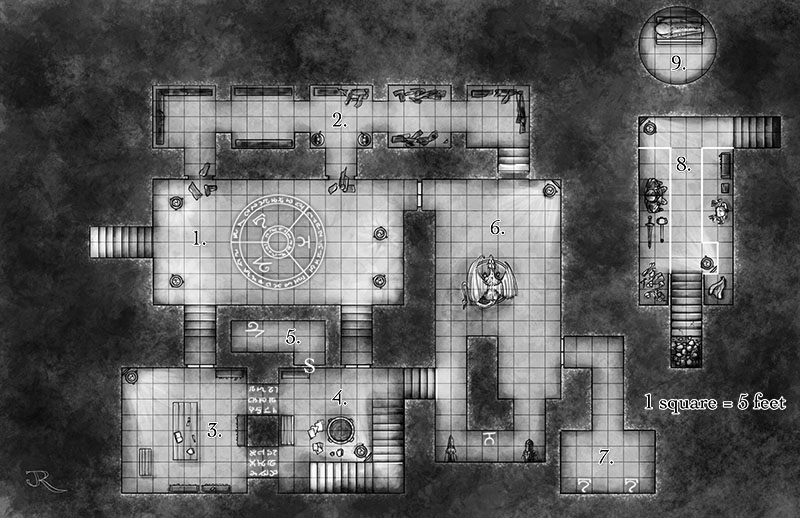 Forbidden archive fantasy map