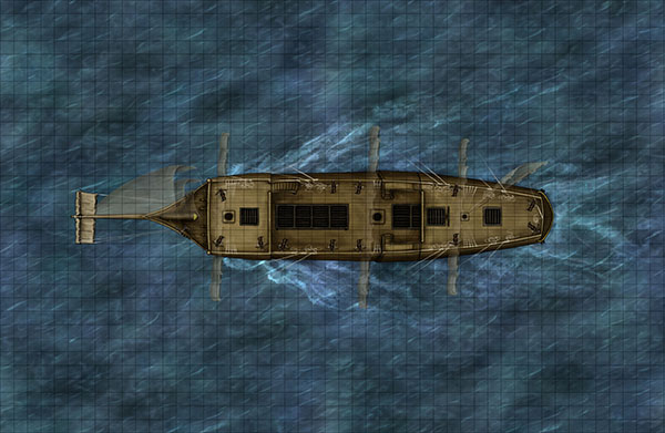Pirate ship for fantasy map pack
