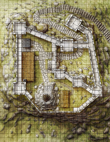The Watchfire Keep fantasy castle map