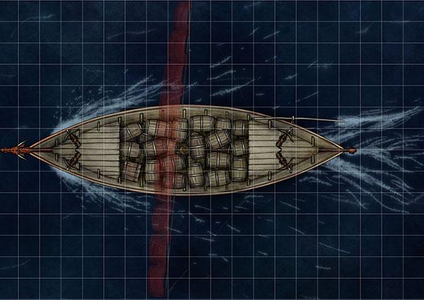 Longship map for fantasy map pack