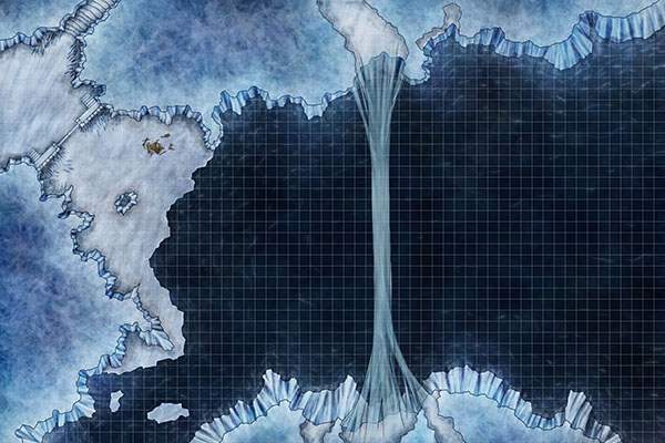 Web preview of fantasy glacier ice battle map