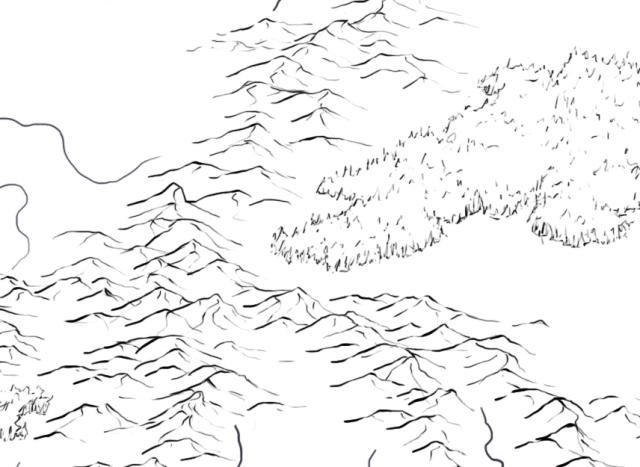 Line art for fantasy world map pf Rhune for Pathfinder