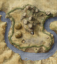 Tribal encampment fantasy rpg battlemap