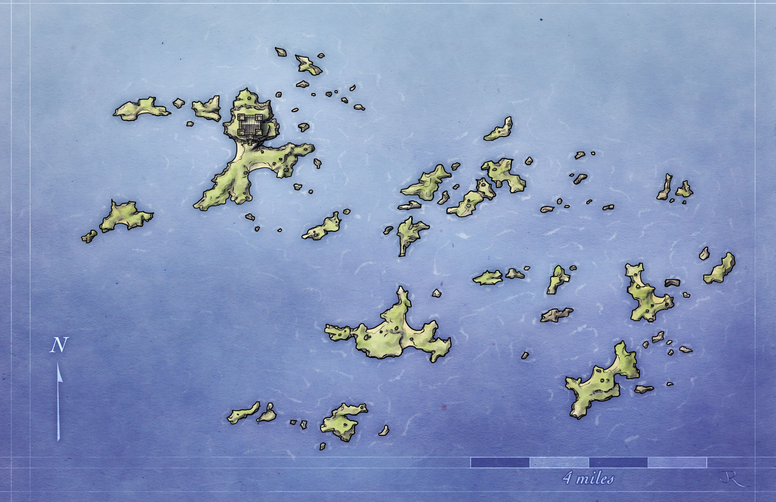 Free Fantasy Archipelago Map For Pathfinder And 4e Du0026d