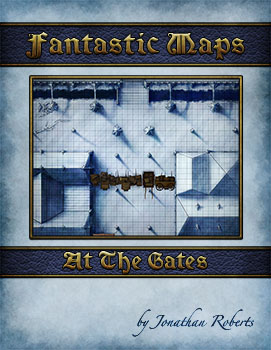 Cover image for Ath The Gates fantasy city map pack for pathfinder and 4E D&D