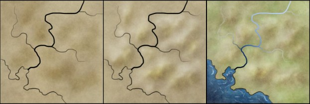 How to draw hills on a top down map