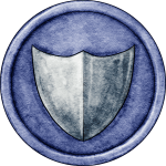 Blue Shield Token for Great Hunt Game