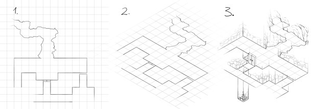How to draw an isometric dungeon map