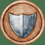 Orange Shield Token for Great Hunt Game