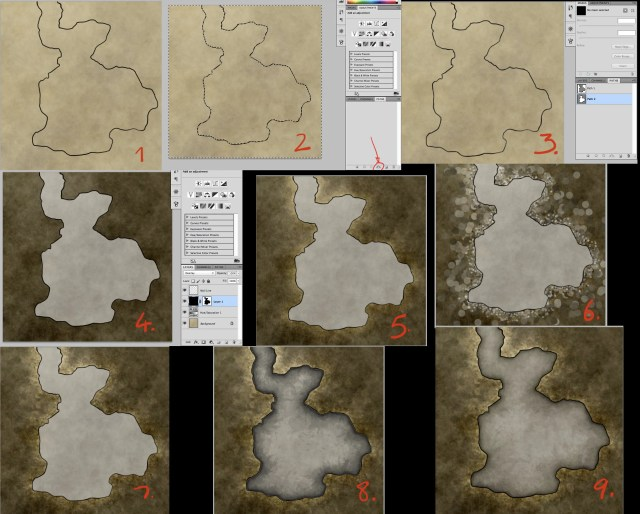 How to create a pretty dungeon map using photoshop paths