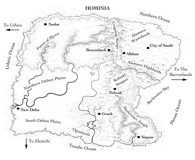 The world of Hominia for Noah Murphy