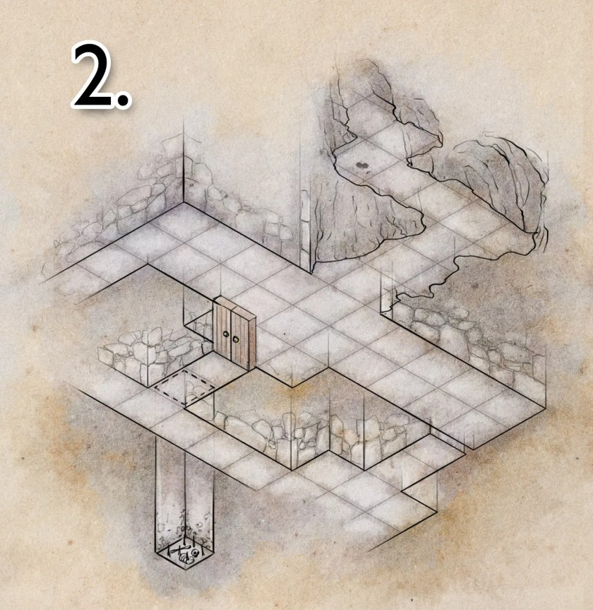 tutorial on how to colour a dungeon map - step 2
