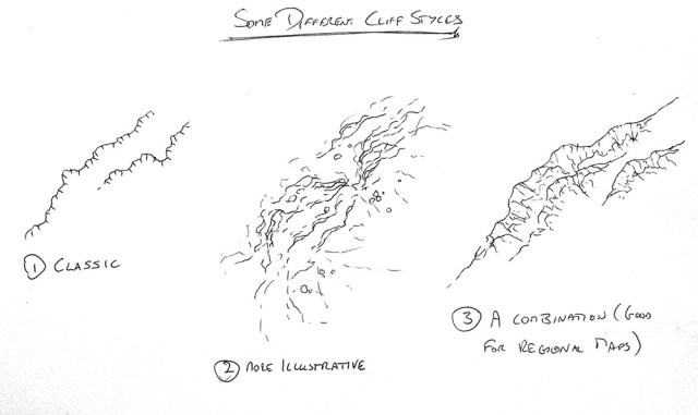 How to draw cliffs
