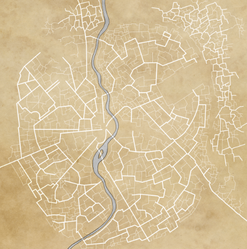 Damas Roads for fantasy city map