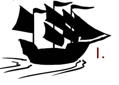 Rough sketch of a pirate ship icon