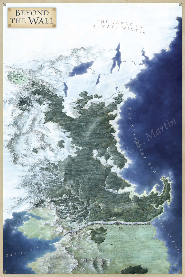Beyond the Wall - Fantastic Maps on game of thrones castles art, game of thrones chart, game of thrones castle black wall, game of thrones wall art, map of land beyond the wall, westeros map beyond the wall, elevator game of thrones the wall, game of thrones cheat sheet, game of thrones scenery,