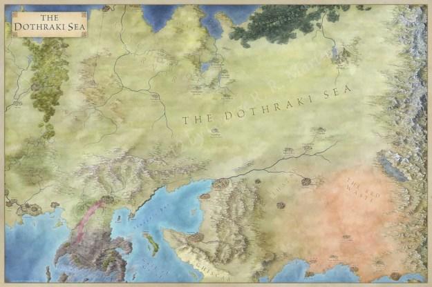 Dothraki Sea map for Game of Thrones