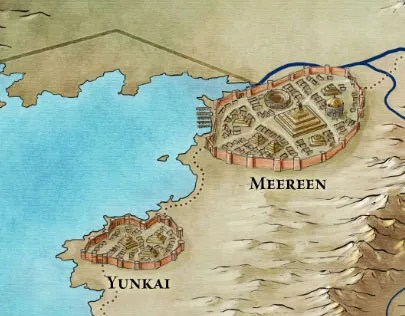 Meereen from the Slaver's Bay map for Game of Thrones