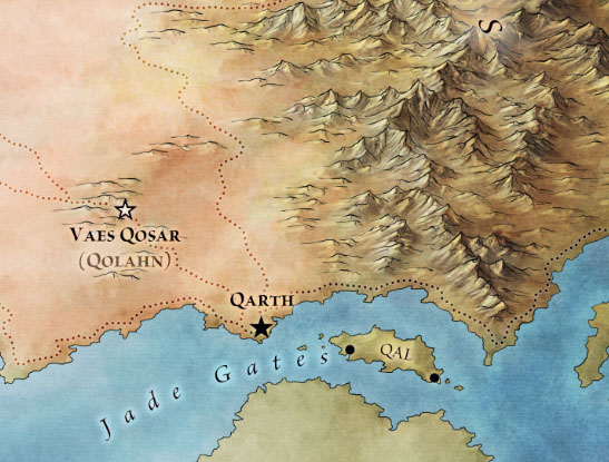 Qarth detail from the central essos map