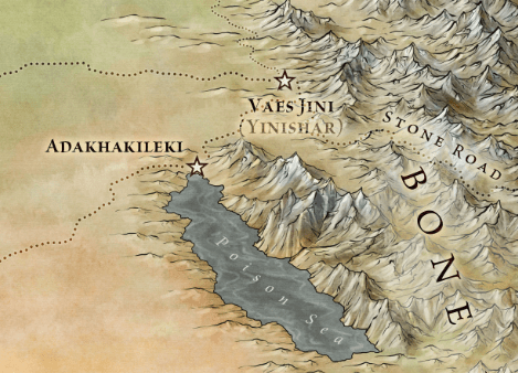The Stone Road and The Red Waste from the Official Maps of A Song of Ice and Fire