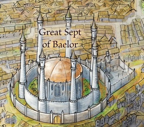 The Great Sept of Baelor from the Official Map of King's Landing