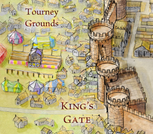 King's Gate and Tourney Grounds from the Official Map of King's Landing