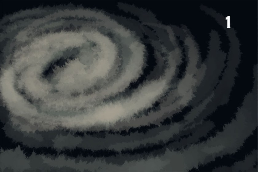How to draw a galaxy. 1 - draw the spiral arms