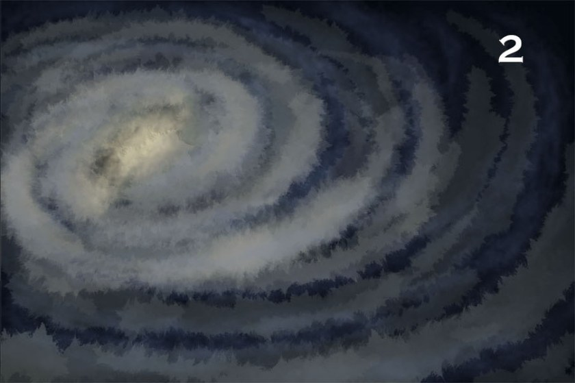 How to draw a galaxy. 2 - second layer of colour