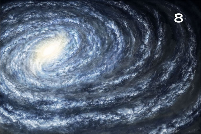 How to draw a galaxy. 8 bright star details