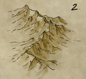 How to illustrate a mountain range for a fantasy map by fantasticmaps.com