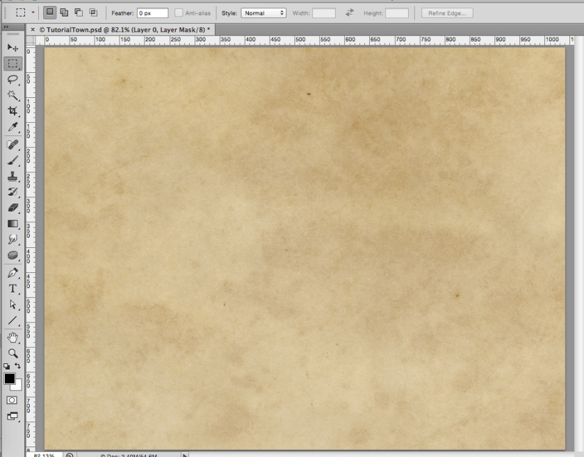 Setup - lay down a parchment texture as the base before you start your map