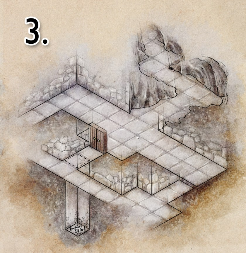 tutorial on how to colour a dungeon map - step 3