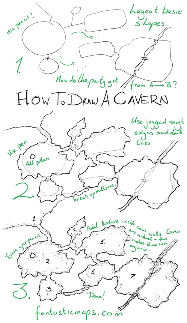 How To Draw A Cave Map