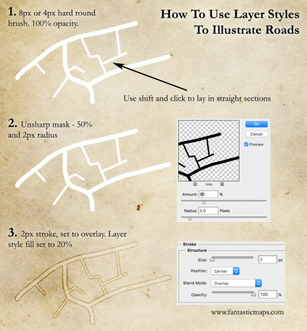 How to Draw Roads on a Map (with the Stroke Tool)