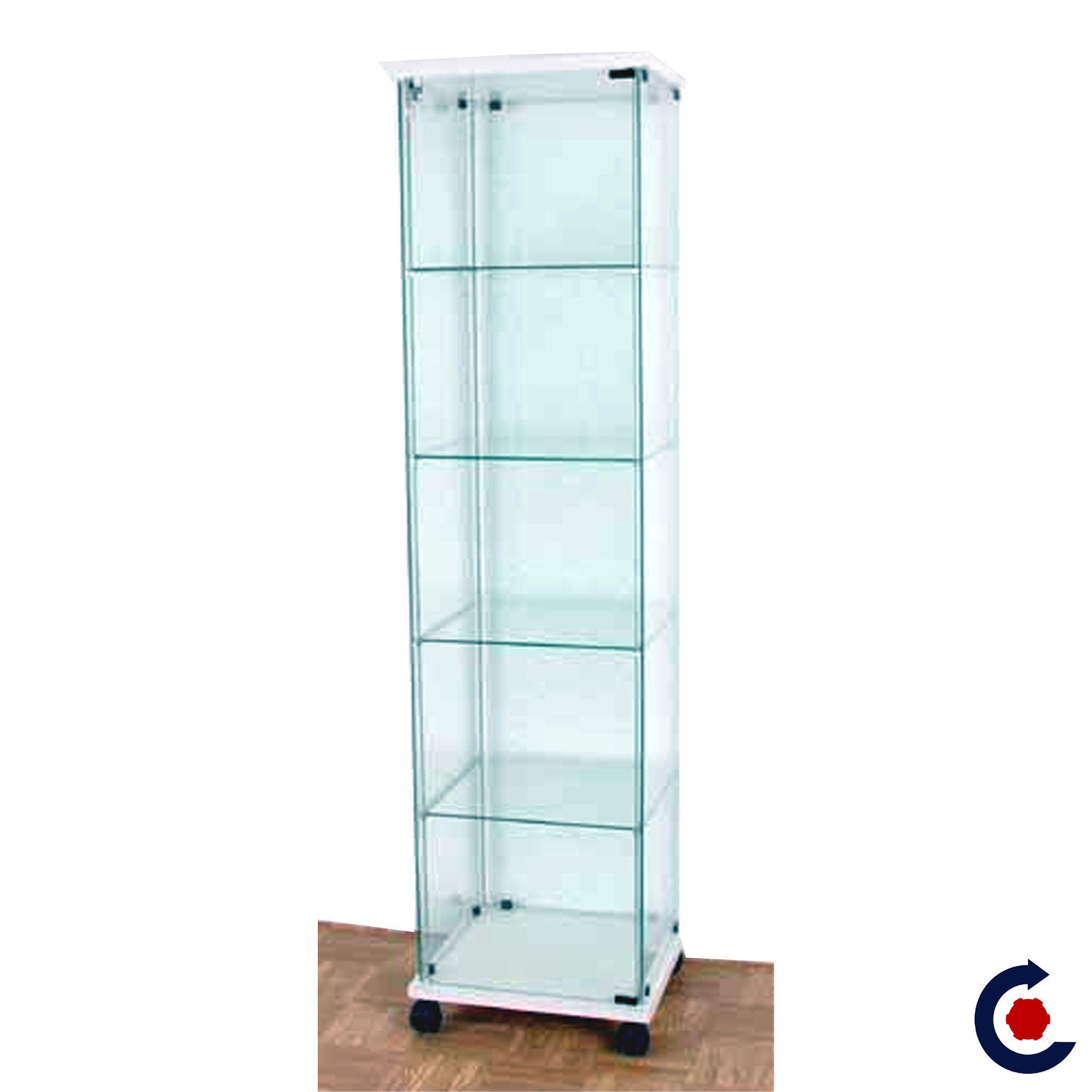 vitrine verre trempe tablettes reglables