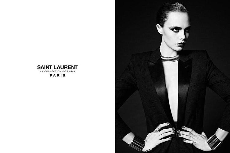 Cara Delevinge x Saint Laurent