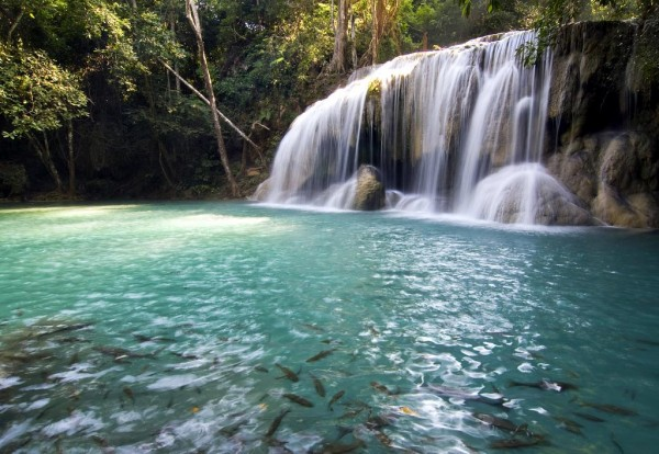 Erawan Waterfalls Thailand 15 Beautiful Places and Landscapes of our Wonderful World
